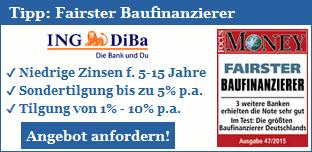 Tipp: Fairste Bauzinsen